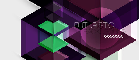 Bright color hexagon geometrical composition background, business presentation template Illusztráció