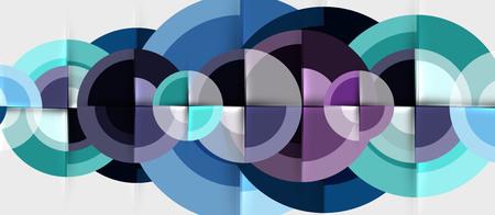 Plantilla de diseño geométrico circular