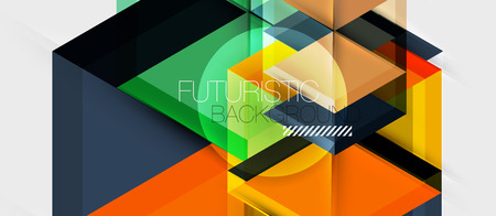 Geometric triangle and hexagon abstract background, vector illustration Foto de archivo - 123102998