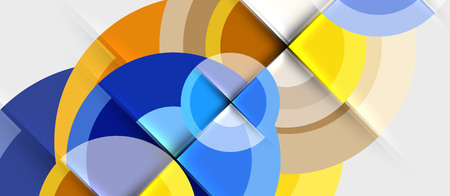 Geometric design abstract background - circles, modern business template  イラスト・ベクター素材