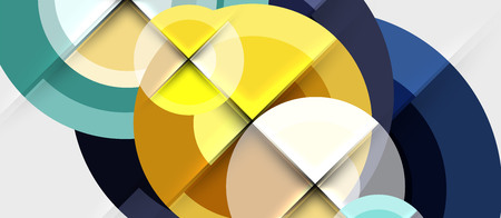 Geometric design abstract background - circles