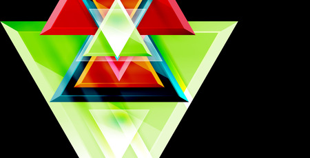 Triangle abstract background  イラスト・ベクター素材