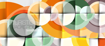 Circular geometrical design template, vector business presentation wallpaper Illustration