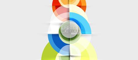 Circular geometrical design template, vector business presentation wallpaper