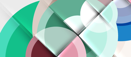 Geometric design abstract background - circles, modern business template