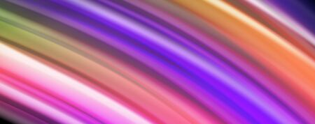Fluid liquid color wave lines, glowing colorful light effect, abstract composition template. Geometric technology abstract pattern. Movement and motion concept