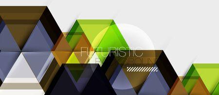 Hexagon vector business presentation or brochure template, technology modern design, vector illustration Ilustração