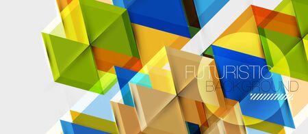 Bright color hexagon geometrical composition background, business presentation template. Vector design