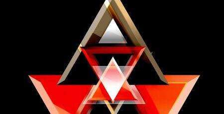 Dynamic triangle composition abstract background, vector illustration Ilustração