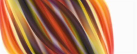 Color flowing waves, liquid conceptual abstract background. Vector Illustration