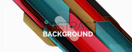 Color lines, modern geometric abstract background. Minimalistic design, creative concept, stripes with arrows and triangle shapes Ilustração