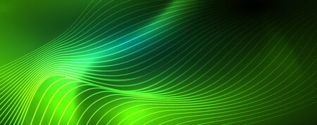 Shiny neon vector wave line abstract background, motion concept, vector illustration