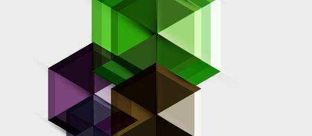 Hexagon vector business presentation or brochure template, technology modern design, vector illustration Illustration