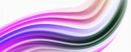 Glossy colorful liquid waves abstract background, modern techno lines