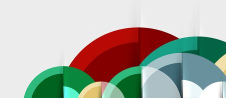 Circular geometrical design template, vector business presentation wallpaper 일러스트