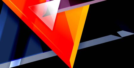 Dynamic triangle composition abstract background, vector illustration Banco de Imagens - 126210307