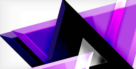 Dynamic triangle composition abstract background, vector illustration 矢量图像
