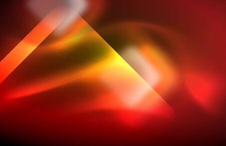 Neon shiny light lines on black, techno modern template Stock Illustratie