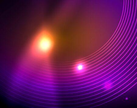 Néon cercles abstrait, modèle vectoriel