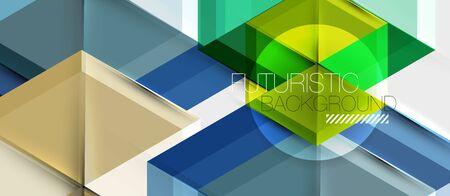 Hexagon abstract background, geometrical modern template, vector business presentation wallpaper design Ilustração