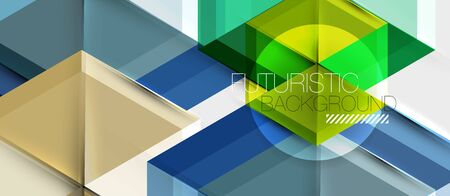 Hexagon abstract background, geometrical modern template, vector business presentation wallpaper design Illustration