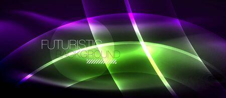 Neon light abstract waves 写真素材 - 126677529