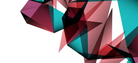 Triangle geometric background in trendy style on light background. Retro vector illustration. Colorful bright. Trendy modern style. Vector business illustration. Geometric template. Иллюстрация