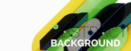 Geometric abstract background. Dynamic shapes composition