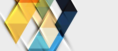 Abstract geometric background. Modern overlapping triangles. Unusual color shapes for your message. Business or tech presentation, app cover vector template