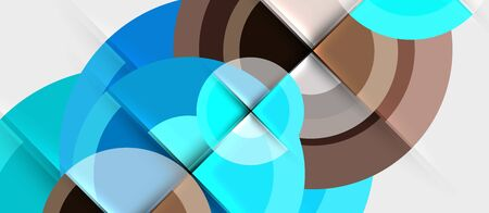 Geometric design abstract background - circles, modern business template Illustration