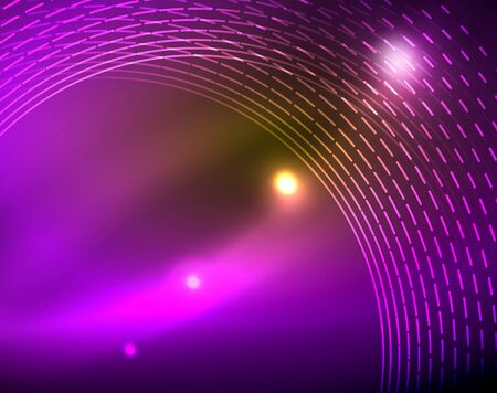 Shiny circles glowing abstract background. Vector illustration Ilustração