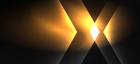 Neon color hexagon shapes, lines on black background. Modern template for web backdrop design. Abstract geometric frame Illusztráció