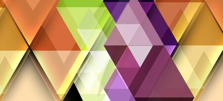 Colorful repeating triangles modern geometric in contemporary style on white background. Abstract geometric shape. Modern stylish texture