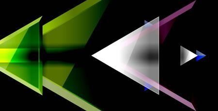 Dynamic triangle composition abstract background, vector illustration Illustration