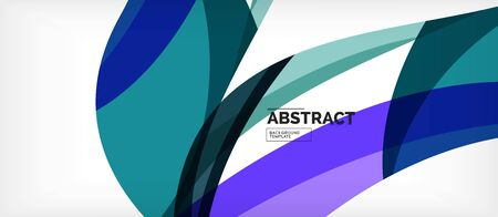 Colorful wave lines abstract background, color line for business or techno presentation. Vector shiny modern wallpaper with stripes Vektorové ilustrace