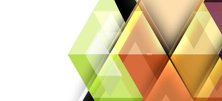 Colorful repeating triangles modern geometric in contemporary style on white background. Abstract geometric shape. Modern stylish texture. Vector abstract graphic design. Vectores