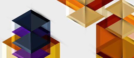 Hexagon abstract background, geometrical modern template Ilustração