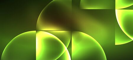 Dynamic lines and shapes, glass neon glowing effect. Modern neon glow geometric shapes, great design for any purposes