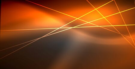 Neon glowing lines, magic energy space light concept, abstract background wallpaper design Illustration