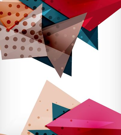Modern origami card. Modern origami design element. Color geometric pattern. Abstract low-poly background. Presentation template.