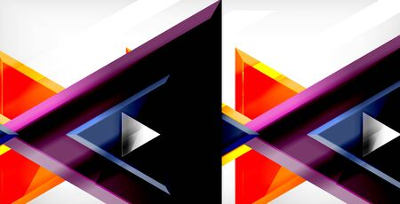 Dynamic triangle composition abstract background