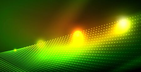 Shiny neon space background, vector template Illustration