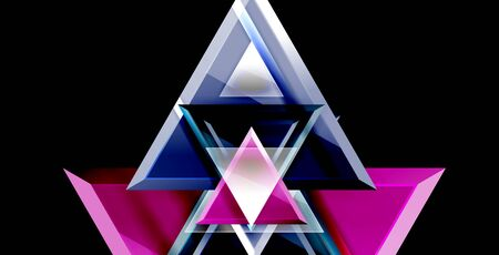 3d triangular vector minimal abstract background design, abstract poster geometric design Çizim