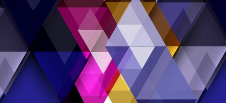 Colorful repeating triangles modern geometric in contemporary style on white background. Abstract geometric shape. Modern stylish texture. Vector abstract graphic design.  イラスト・ベクター素材