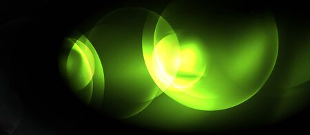 Shiny neon circles abstract background Vectores