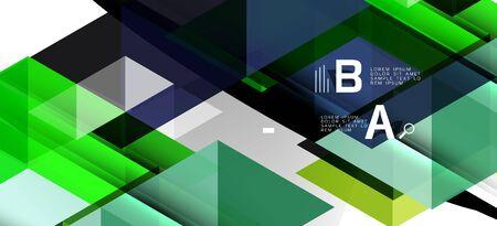 Triángulos de repetición coloridos geométricos modernos en estilo contemporáneo sobre fondo blanco. Forma geométrica abstracta. Textura con estilo moderno Ilustración de vector