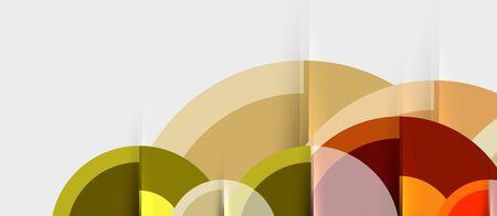 Circular geometrical design template, vector business presentation wallpaper Ilustração
