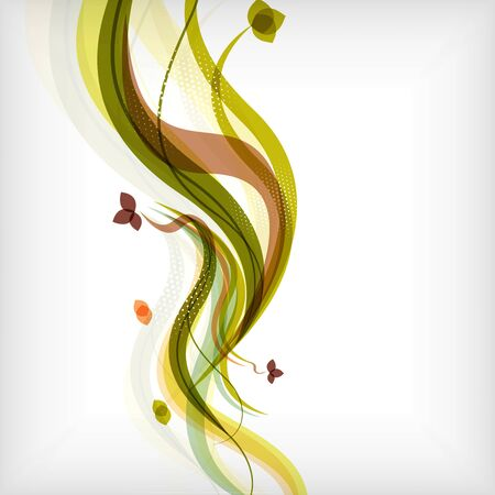 Autumn floral nature fall background. Modern nature abstract template.