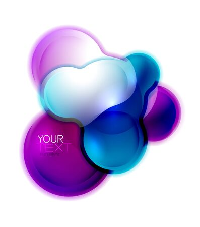Circle shiny glass bubble abstract , or business banner for text, molecular shape