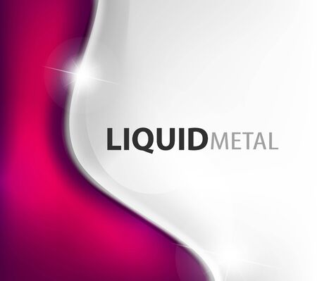 Flowing liquid metal background design